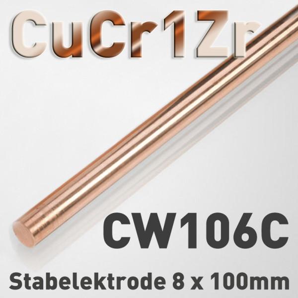 Kupfer-Chrom-Zirkonium-Elektrode 8 mm