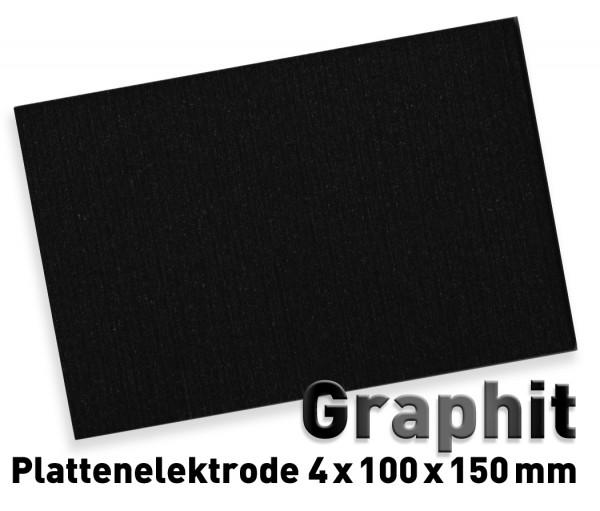 Graphit-Plattenelektrode L - 100 x 150 mm