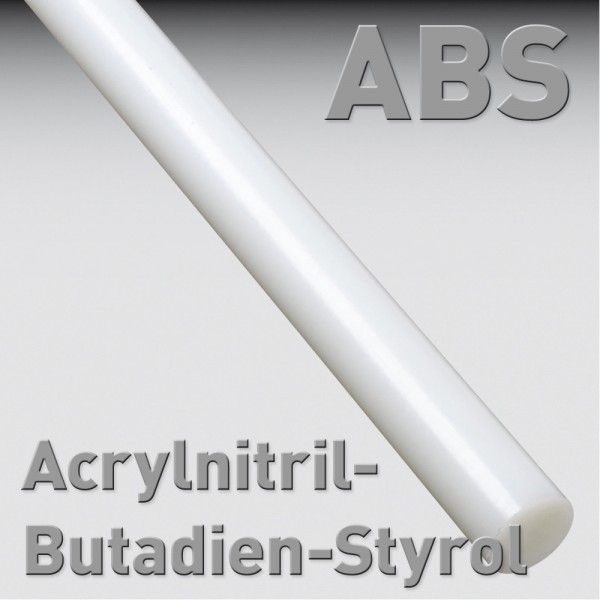 Acrylnitril-Butadien-Styrol (ABS), Rundstab 8 x 100 mm