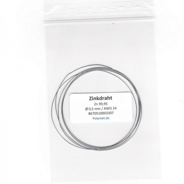 Zink-Drahtelektrode 0,5 mm