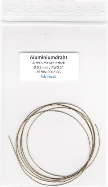Aluminium-Drahtelektrode