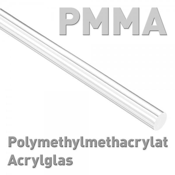 Polymethylmethacrylat (PMMA, Acrylglas, Plexiglas), Rundstab 8 x 100 mm