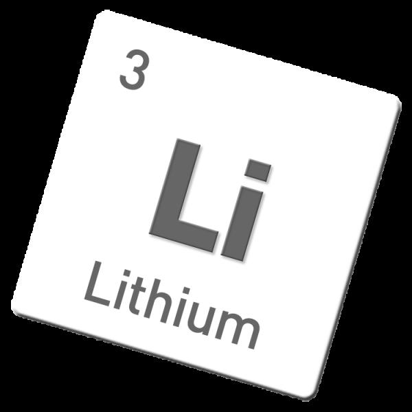 Lithium in Stücken