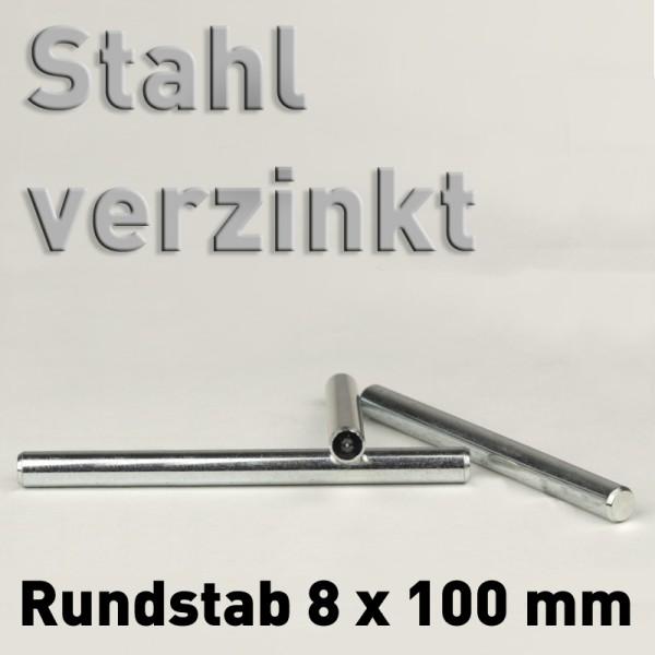 Stahl-Rundstab, verzinkt 8 mm