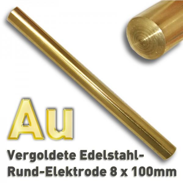 Gold-Elektrode 8 mm
