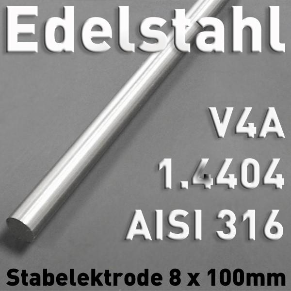 Edelstahl-Elektrode V4A 8 mm
