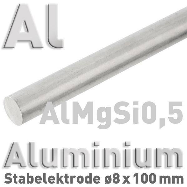 Aluminium-Elektrode 8 mm (AlMgSi)