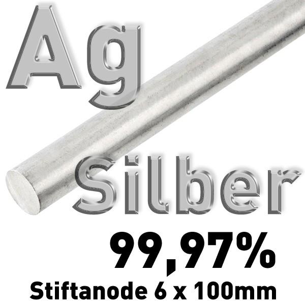 Silber-Elektrode 6 mm