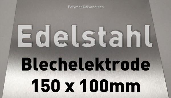 Edelstahl-Plattenelektrode L - 100 x 150 mm