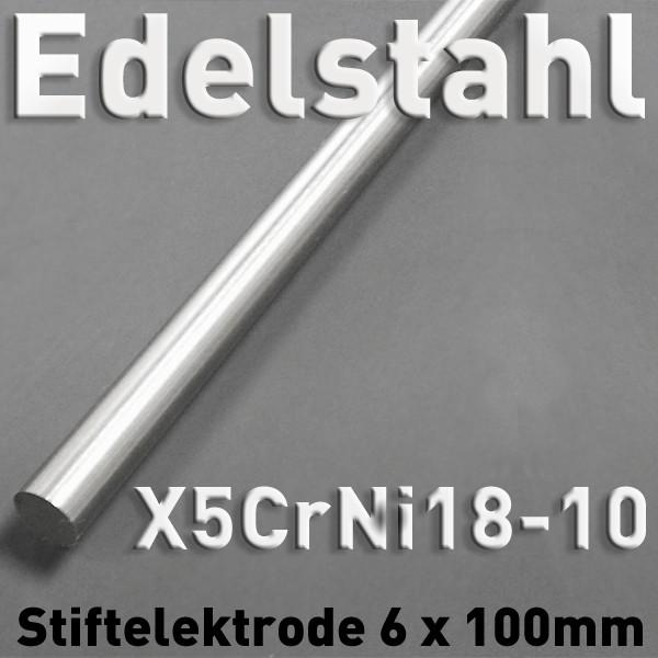 Edelstahl-Elektrode V2A 6 mm