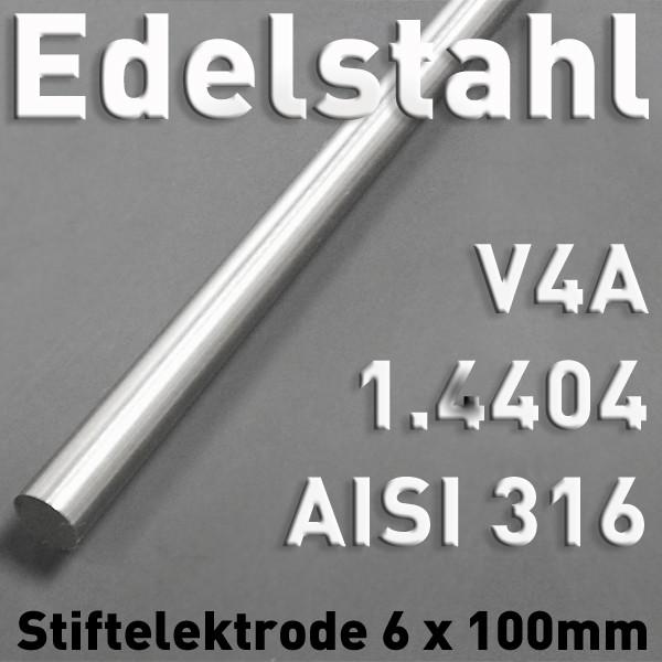 Edelstahl-Elektrode V4A 6 mm