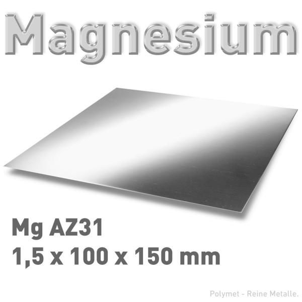 Magnesium-Blech 1,5 mm