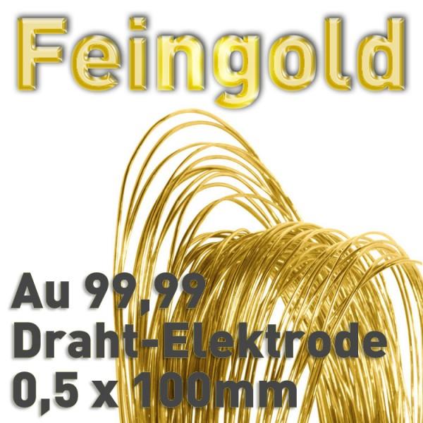 Gold-Drahtelektrode