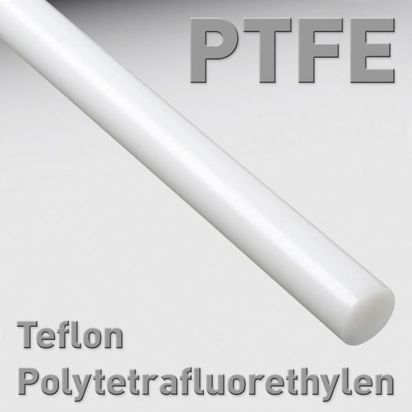 Polytetrafluorethylen (PTFE, Teflon), Rundstab 8 x 100 mm