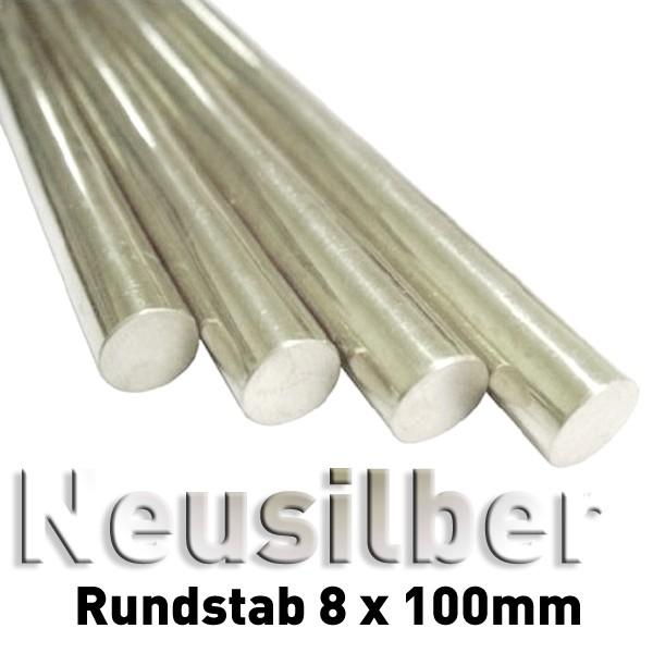 Neusilber 8 mm